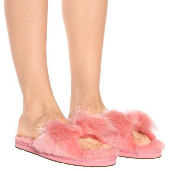 fe310270ddf UGG Mirabelle Pink Fur Slippers Slides 7 38 New NWT